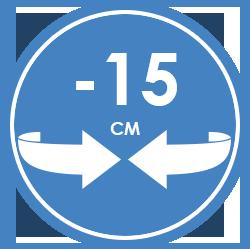 Circonférence corporelle réduite
